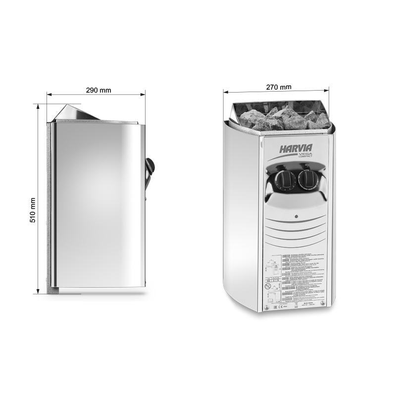 Електрическа печка за сауна серия Harvia Vega Compact 4