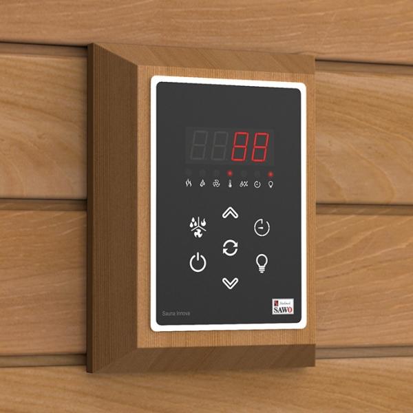 Декоративен панел за електронно управление за сауна